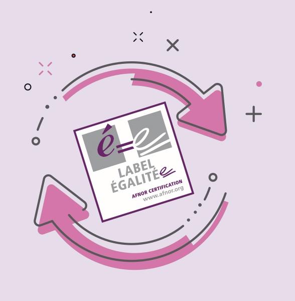 Logo du label Egalité certifié par AFNOR délivré à la Banque Populaire Auvergne Rhône Alpes